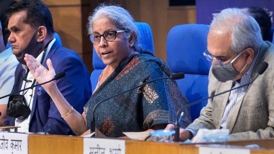 Finance minister Nirmala Sitharaman.(Bloomberg)