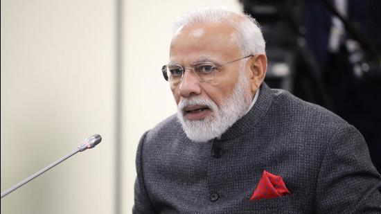 Prime Minister Narendra Modi attends a meeting with Russian President Vladimir Putin on the sidelines of the Eastern Economic Forum in Russia on September 4, 2019. (File photo)
