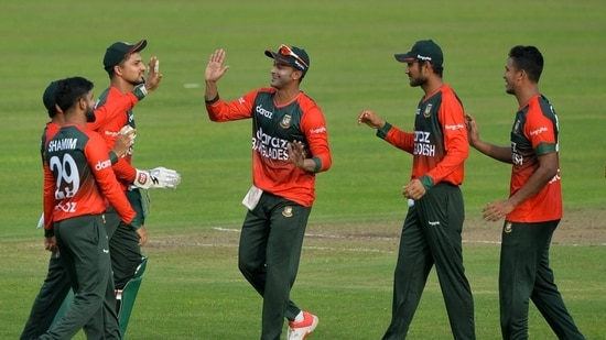 'It's like Young boys against Man Utd': Twitter reacts to Bangladesh's first-ever T20I win against New Zealand(Twitter/ICC)