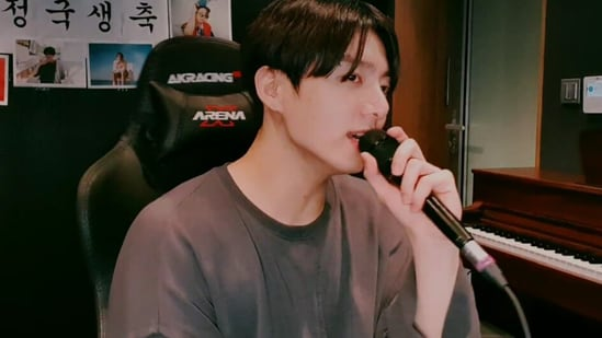 BTS singer Jungkook hosted a Vlive on his birthday.