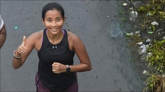 Ankita Konwar's 'slow paced rainy 10k run' is perfect fitness inspo for today(Instagram/ankita_earthy)