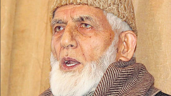Syed Ali Shah Geelani died late on Wednesday after a prolonged illness. (HT archive)