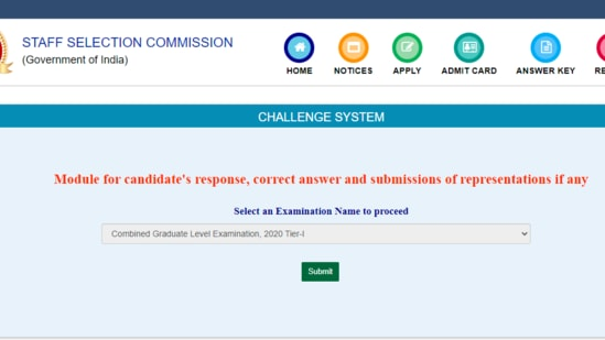 SSC CGL Tier 1 answer keys: Candidates who have appeared in the examination can check the answer keys from the official website of the commission at ssc.nic.in.(ssc.nic.in)