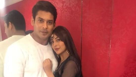 Shehnaaz Gill with her rumoured boyfriend late Sidharth Shukla.