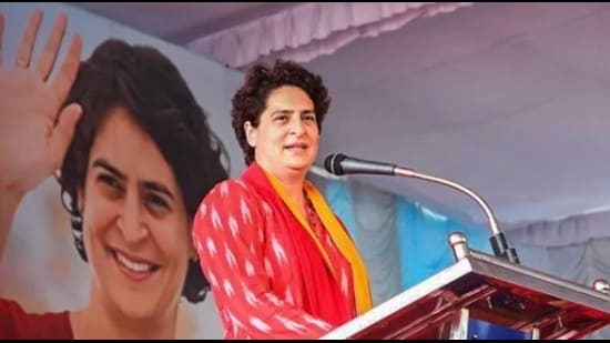 Priyanka addressed the party workers at some of the training camps via video conference last week. (HT File Photo)