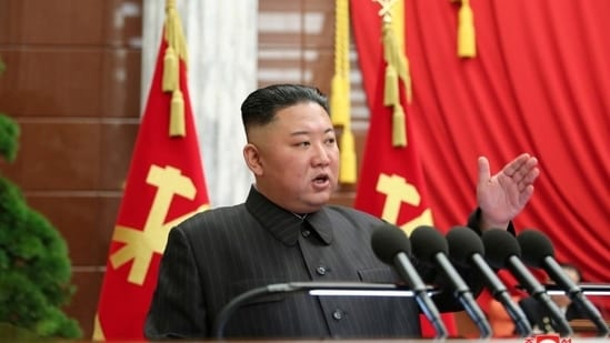 The North Korean leader has issued rare warnings of economic struggles and food shortages in the past months, perhaps to prepare his people for hard times ahead. (KCNA via REUTERS)