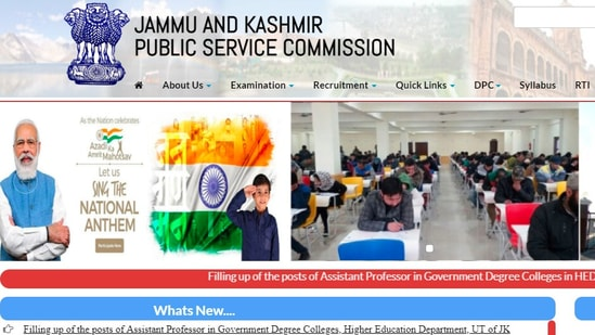 JKPSC recruitment 2021: Candidate applying for the posts should have a domicile of the Union Territory of Jammu & Kashmir.(jkpsc.nic.in)