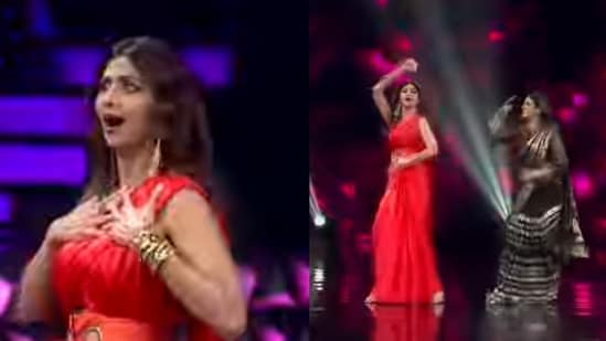 Shilpa Shetty and Raveena Tandon dance to Chura Ke Dil Mera.