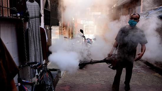 The health department said they mapped the areas through special surveillance for the mosquito-borne diseases (HT PHOTO)