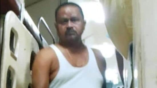 JDU MLA Gopal Mandal captured in his undergarments while travelling from Patna to New Delhi on the Tejas Rajdhani Express. (Sourced)