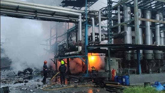The blast is said to have taken place in the boiler section. (Pankaj D Raut)