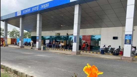 Darbhanga airport was made operation in November last year. (HT photo)
