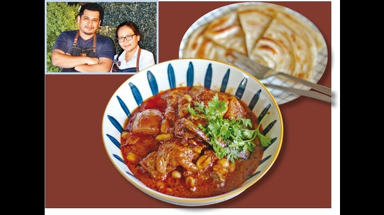 Chef Seefah and her husband Karan Bane (inset) divide the Japanese and Thai dishes at Seefah between them; Chef Seefah's Massaman curry is among some of the fantastic dishes she makes now, unlike the earlier hotel-style food she would cook