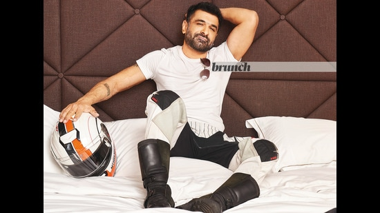 Eijaz Khan poses exclusively for this HT Brunch column; Location courtesy:Taj Lands End, Mumbai;Styling by Avinash Bamania (Vickky Idnaani)