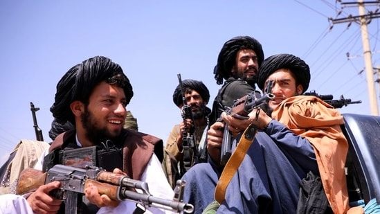 Taliban forces patrol in front of the Hamid Karzai International Airport in Kabul, Afghanistan, on September 2, 2021.(File Photo / REUTERS)
