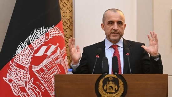 Instead of fleeing Afghanistan, Amrullah Saleh contacted Massoud who was in Kabul when the city fell to the Taliban.(AFP)