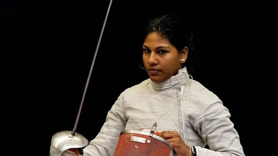 Bhavani Devi, the first Indian fencer to qualify for the Olympics. (Olympics.com)