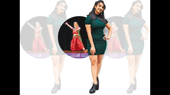 Harini (above) says she hated TikTok till she joined it in May 2020 and gave a dance challenge a Bharatanatyam twist, inspiring many such Reels (inset) later (ranav Selvan and Bharatanatyalaya)