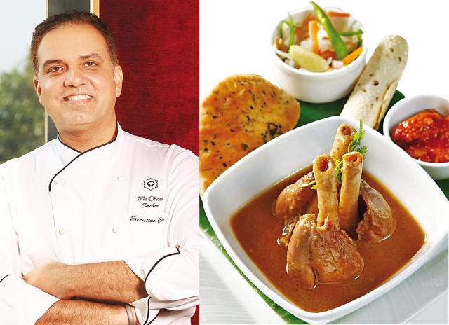 When the Oberois needed a Corporate Chef they turned to Mumbai and elevated Satbir Bakshi (left); At Oberoi, Nariman Point, dishes like (right) Nalli Nihari have a high standard