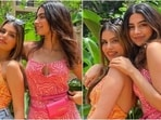 Khushi Kapoor teams strappy dress with expensive mini bag for lunch date, here's what it costs(Instagram/@muskan_chanana)