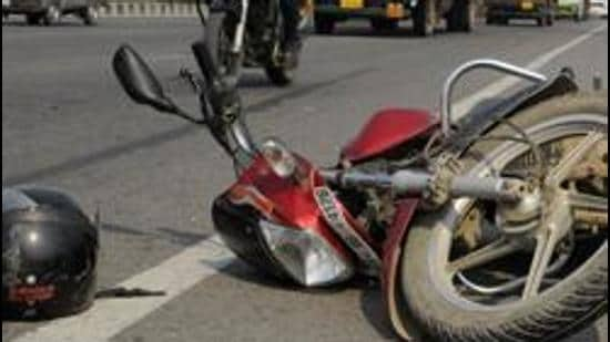 A 52-year-old man was killed after a recklessly driven car hit his motorcycle on the Airport Road in Mohali on Saturday night.