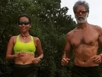 Ankita Konwar's Monday is all about active recovery, says to be healthy listen to the body(Instagram/@milindrunning)
