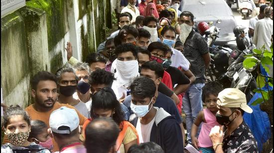 BMC has been pushing for vaccination ahead of the anticipated Covid third wave in Mumbai. (Anshuman Poyrekar/HT PHOTO)