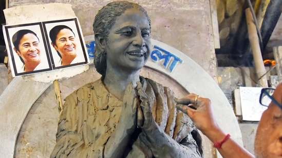 Bhowanipore has been the bastion of Trinamool Congress chief Mamata Banerjee who had made a last moment decision to contest the assembly elections from Nandigram. (ANI Photo)(Utpal Sarkar)