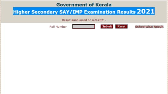 DHSE Kerala SAY results 2021: Candidates who have taken the DHSE SAY exam 2021 can check their results on the official website for Kerala results at keralaresults.nic.in.(keralaresults.nic.in)