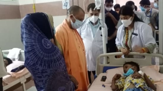 Uttar Pradesh chief minister Yogi Adityanath has ordered officials to launch a statewide cleanliness and sanitation drive to combat the increasing number of dengue cases in the state.(HT Photo)