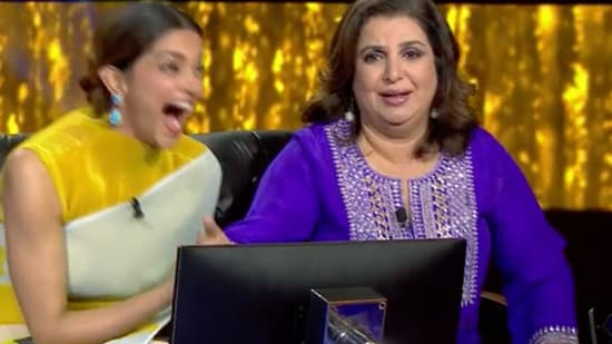Farah Khan cracked Deepika Padukone up with her comment.
