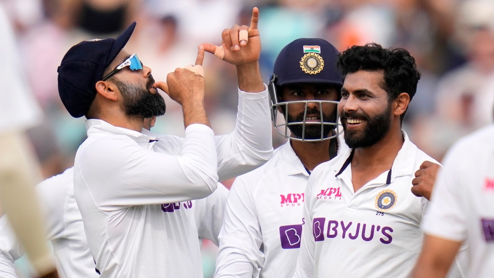 Virat Kohli's trumpet celebration after Hameed and Bairstow's wickets  sparks debate on social media   Cricket - Hindustan Times