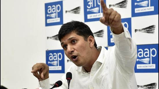 Saurabh Bhardwaj claimed an air quality commission rejected the plans put forward by the four neighbouring states. (Mohd Zakir/HT Archive)
