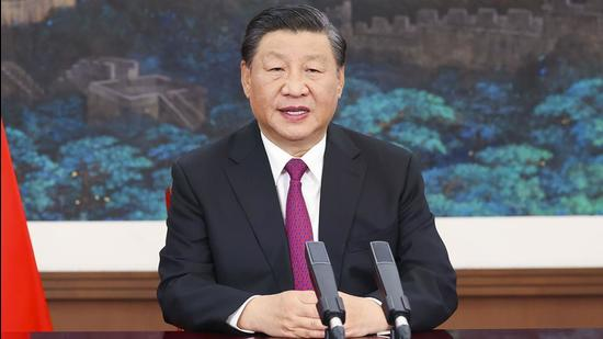 A file photo of China's President Xi Jinping. As the chairperson of the Chinese Central Military Commission (CMC), he promoted five PLA officers to the rank of general at a function in Beijing (AP)