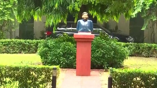 A bust of late LJP leader Ram Vilas Paswan has been installed at 12, Janpath, in the national capital.
