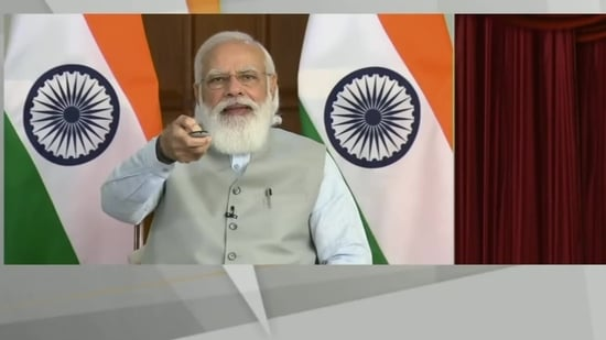 PM Narendra Modi launched multiple key initiatives during the inaugural conclave of Shiksak Parv via video conferencing. (ANI Twitter)