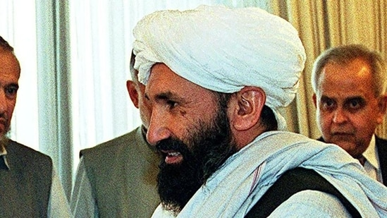 Mohammad Hassan Akhund was named leader of the Taliban caretaker setup.(AFP)