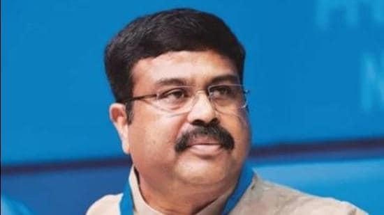 Union education minister Dharmendra Pradhan spoke during the 54th annual day celebrations of NITTTR. (HT file photo)