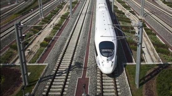 The estimated cost of the Mumbai to Ahmedabad bullet train project is Rs110,000 crore (AP)