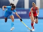India's Sharmila Devi in action against Great Britain at Tokyo 2020(Alexander Hassenstein/Getty Images)