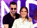 Bollywood actors Ronit Roy and Richa Chadha attend a promotional event for their series Candy.(PTI)