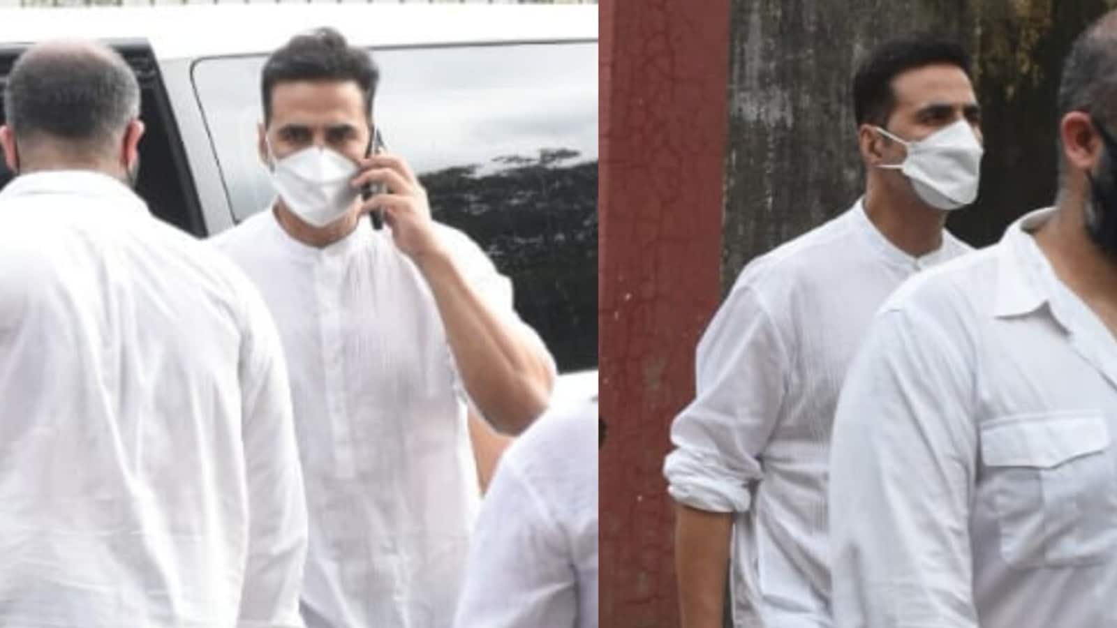 Akshay Kumar attends Aanand L Rai's mother's funeral, hours after his mom Aruna Bhatia's death. See pics   Bollywood - Hindustan Times