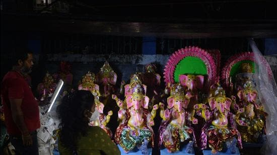The petitioner told the court that restrictions on celebrating Ganesh or Vinayaka Chaturhti were only for public places. (AFP)