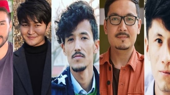 The combined images of the five journalists shared by Tolo News on Twitter.