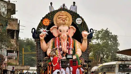 Ganesh Chaturthi, a ten-day festival that starts on the fourth day of the Hindu lunisolar calendar month Bhadrapada, will start on September 10 this year.(File Photo / PTI)