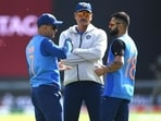 'Dhoni, Shastri, Kohli and Rohit (not in photo) form a very potent leadership group'
