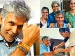 Earlier today, Milind Soman took to his Instagram handle to share a few pictures with his three sisters Medha Soman, Netra Soman and Anupama Soman. Check out the photos here.(Instagram/@milindrunning)