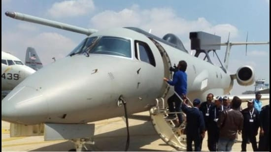 The first indigenously developed airborne early warning and control (AEW&C) system, called Netra, was handed over to the IAF on Feb 14, 2017, in Bengaluru. (HT photo)