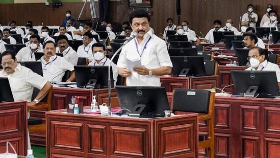 Tamil Nadu chief minister MK Stalin. (PTI)(HT_PRINT)