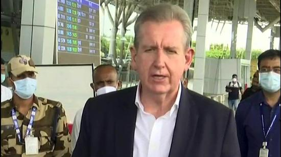 Australian envoy Barry O'Farrell on Thursday said that the country has made an initial offer of 3,000 humanitarian visas and is working with the UN commissioner for refugees on such issues. Australia has evacuated 3,600 people from Afghanistan so far. (ANI PHOTO.)
